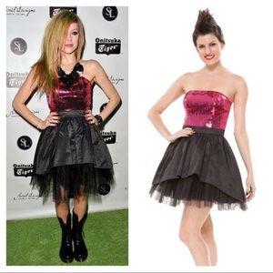 Betsey Johnson sequined strapless mini dress